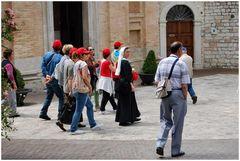 Piccoli turisti ad  Assisi
