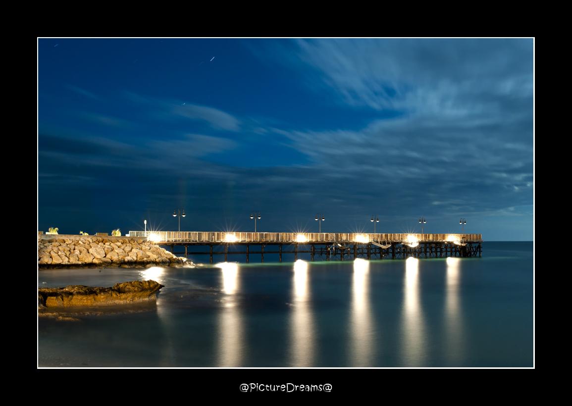 Pier at full Moon