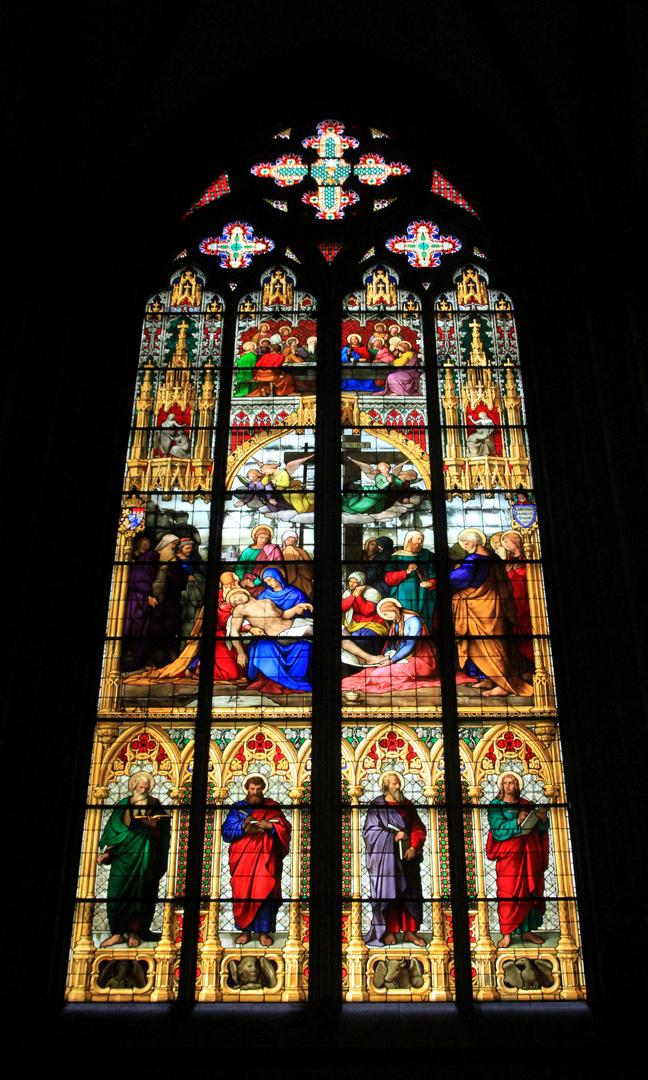 Pieta Fenster im Kölner Dom