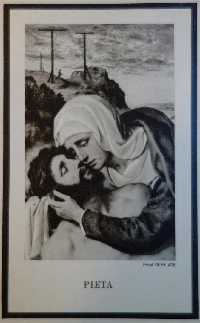 Pieta in Schwarzweiß