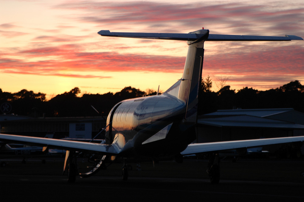 Pilatus PC-12 Sunset