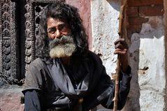 Pilger in Bhaktapur