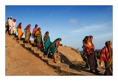 Pilgergruppe in Mamallapuram