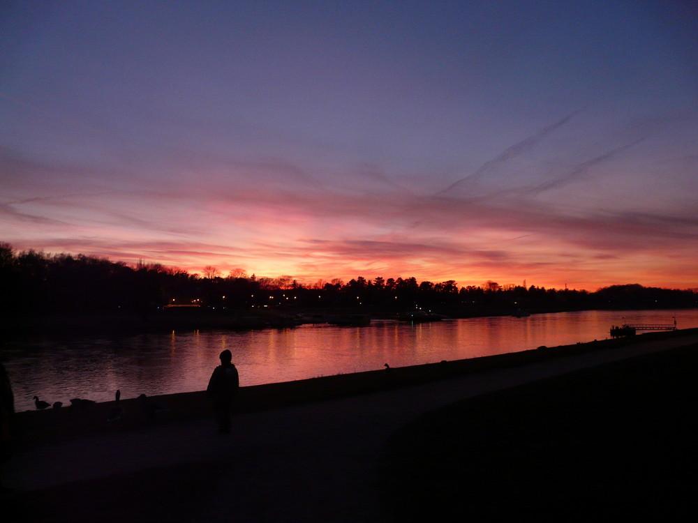 Pillnitzer Sonnenuntergang die 2.