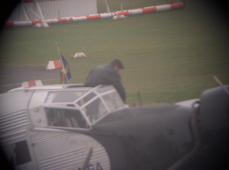 Pilot aus der Kanzel