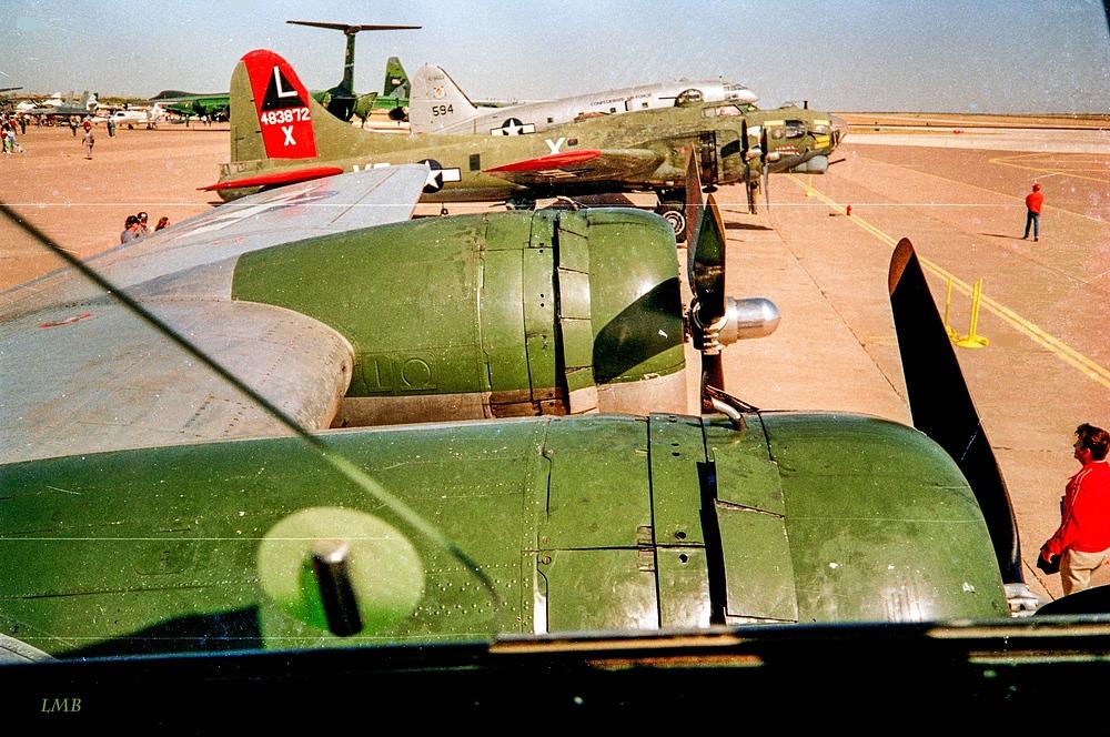 Pilotenblick aus der B-17