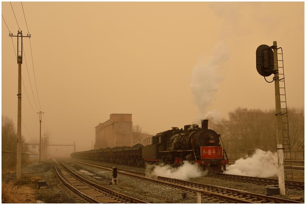 Pingzhuang 2013 - XIV - Im Sandsturm