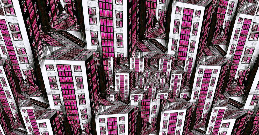 Pink Lighted City XX