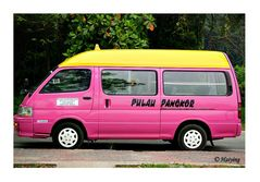 Pink taxi!