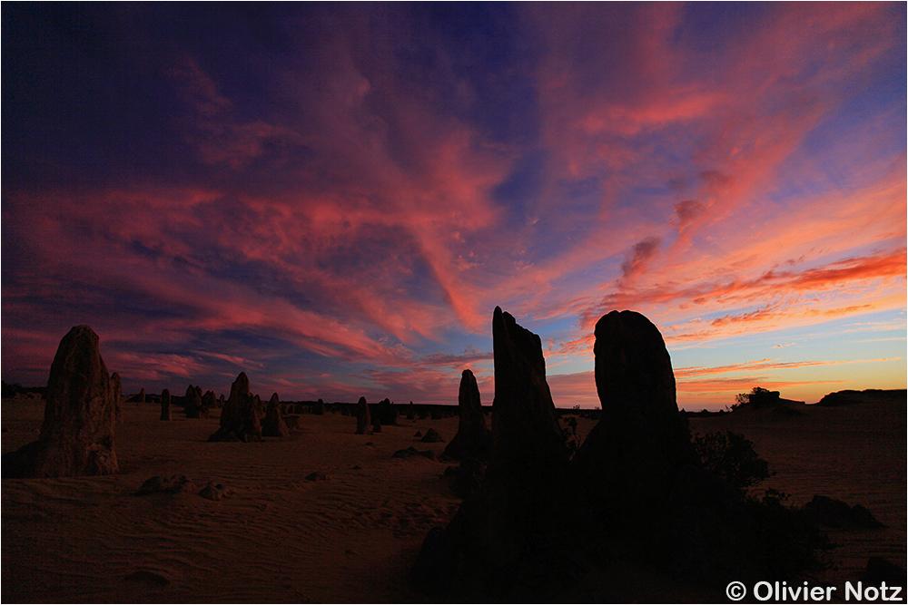 Pinnacles at sunset