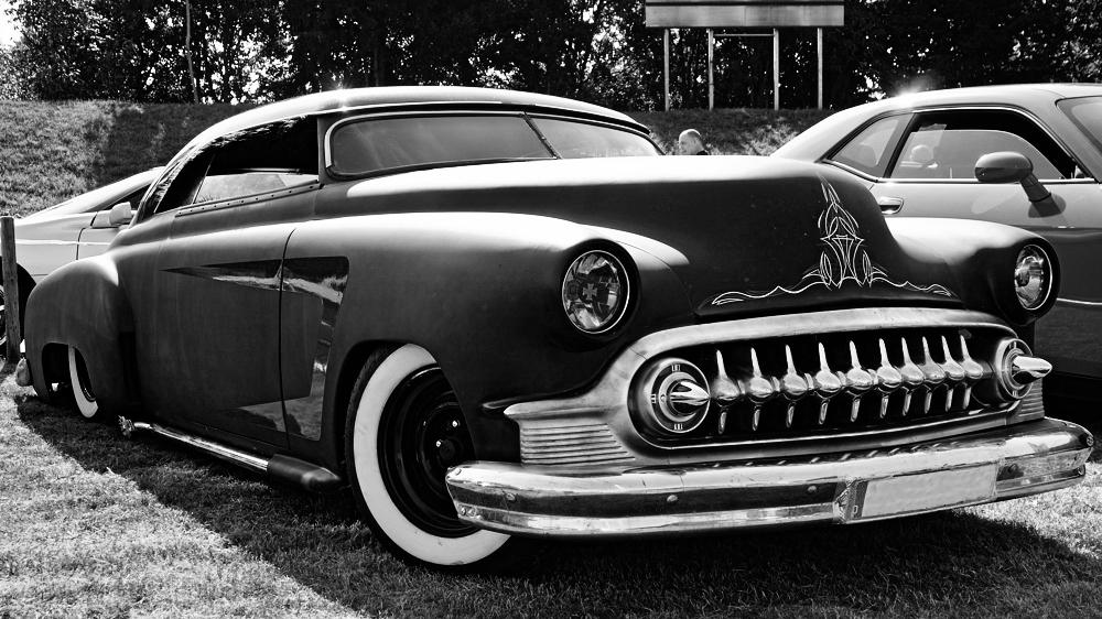 Pinstriped Cadillac