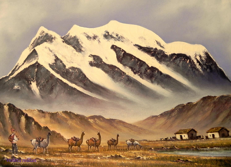 pintura paisaje boivianol
