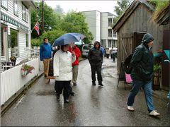 Piove a Geiranger.