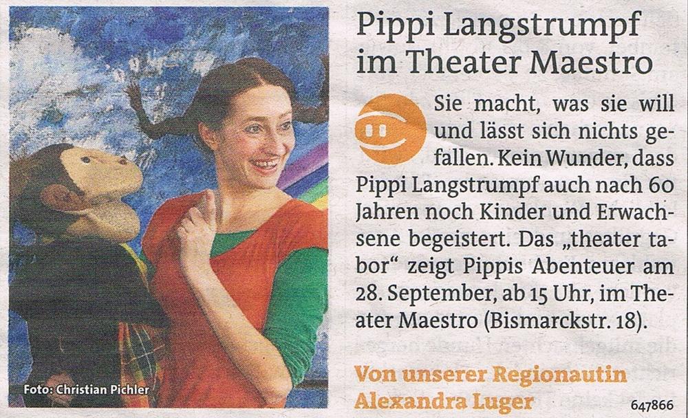 Pippi Langstrumpf im Theater Maestro