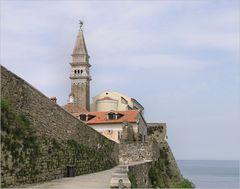 Piran - Blick auf den St. Georgs-Dom