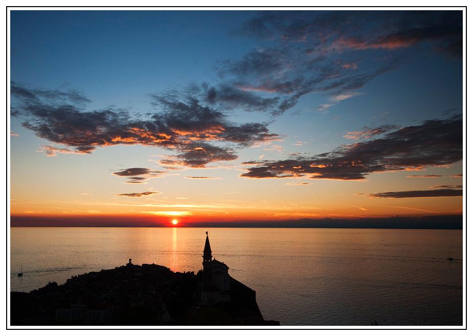 Piran Sonnenuntergang