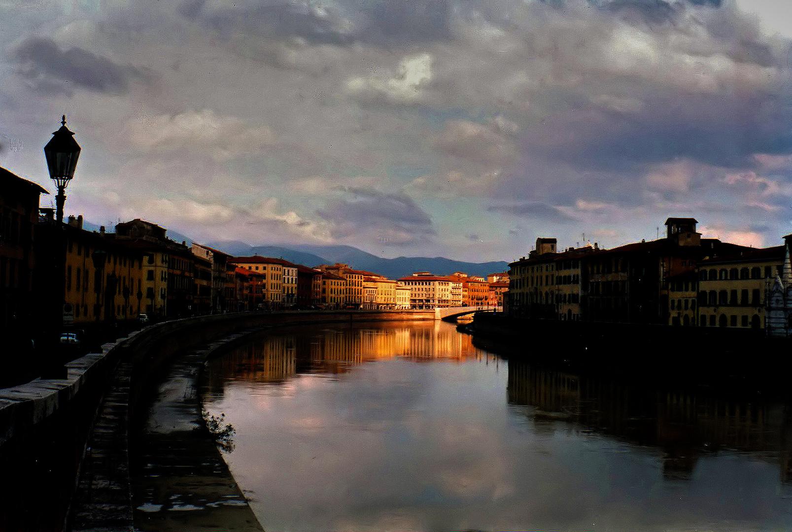 PISA - LUNGARNO SUNSET