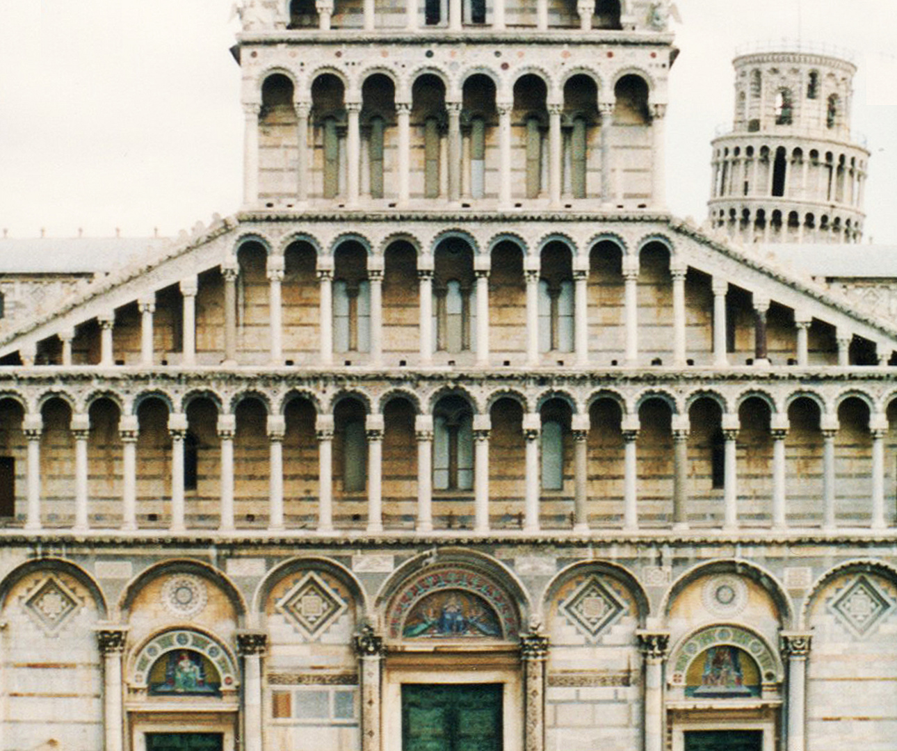 PISA - THE CATHEDRAL - FACADE W. LEANING TOWER