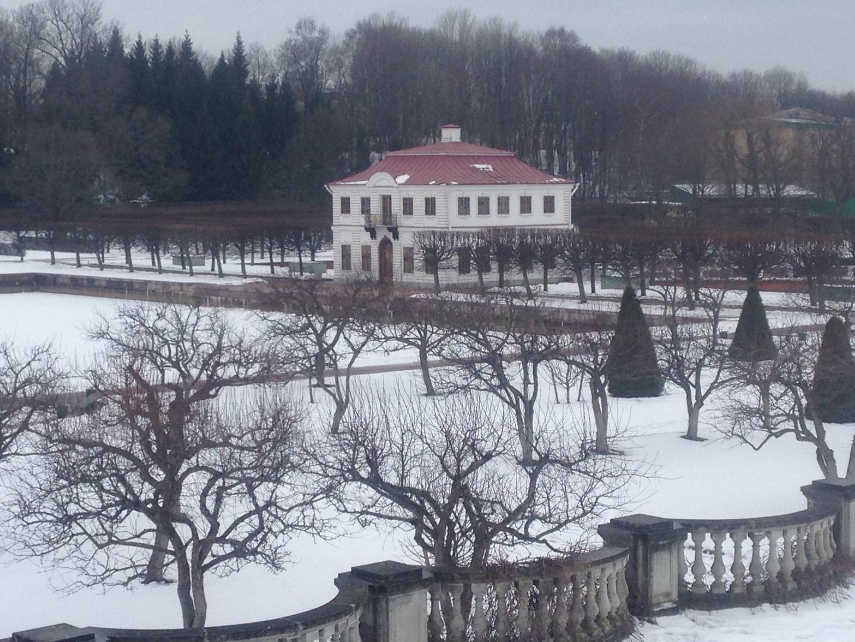 Pitergoff in winter. Hermitage
