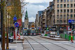 Place de Paris - Avenue de la Liberté - Gare centrale