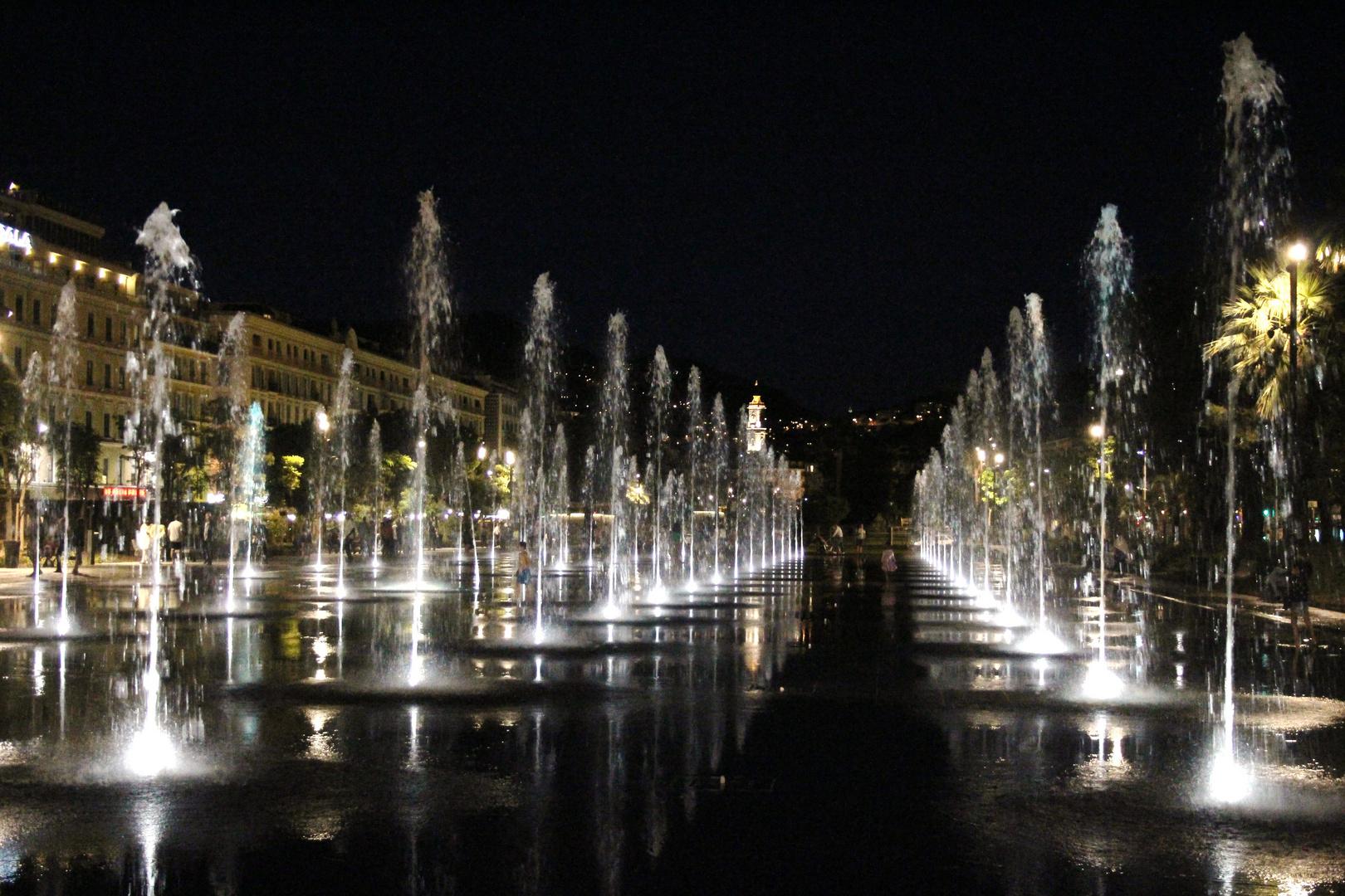 Place Masséna by night