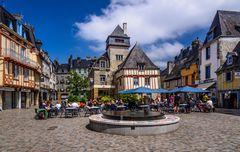 Place Terre au Duc, Quimper, Bretagne, France