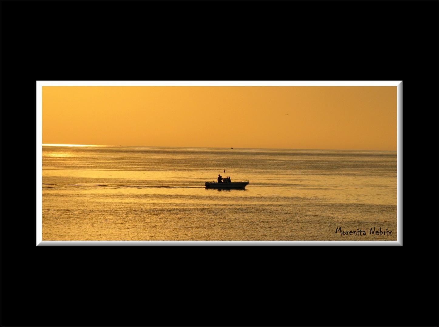 Placentera tarde de pesca...