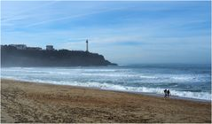 Plage de la Petite Chambre d'Amour et phare de Biarritz…