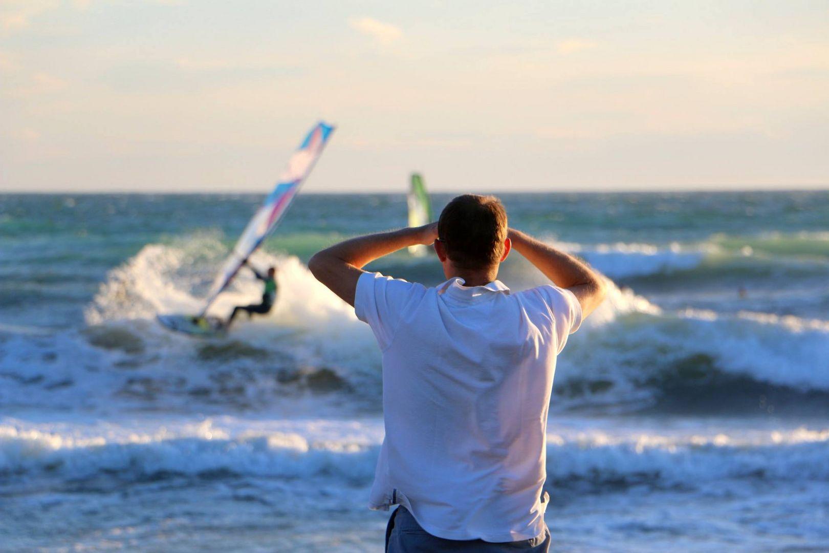 plage de surf.