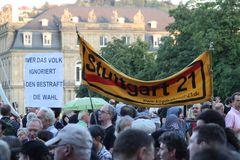 Plakat: das VOLK ... bestraft - Stuttgart 20.8.10