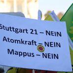 Plakat DREIMAL NEIN Stuttgart 6-10-2010