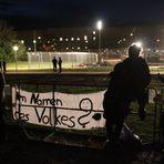 Plakat  IM NAMEN des VOLKES am neuen SPERRZAUN Stuttgart 6.10.2010