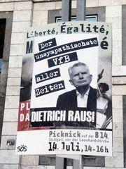 Plakat Liberte fuer VfB-Dietrich J5 Aktuell