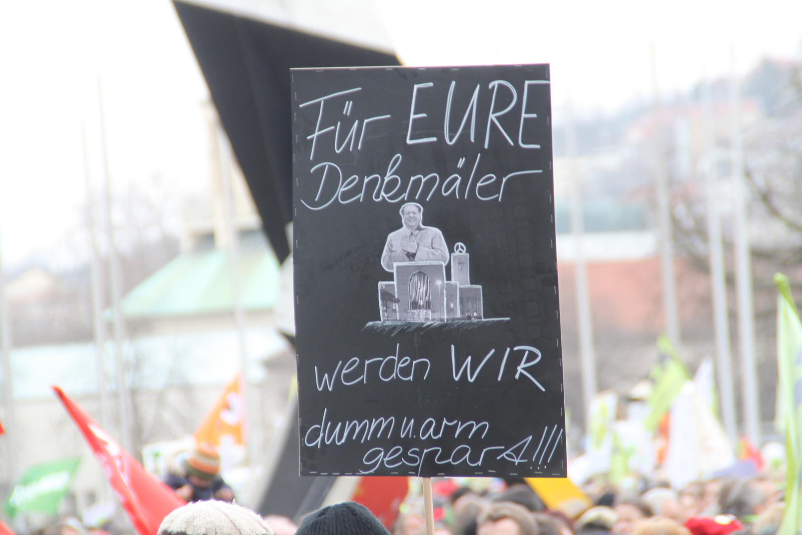 Plakat: MAOinBW MAO-ppus DENKMAL Stuttgart 19.2.2011 +TV-Tipp