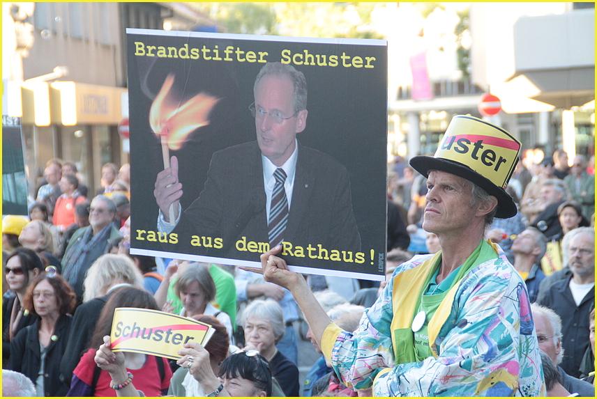 Plakat OB Schuster Bürger-Meister, Stuttgart K21 -14.09.11