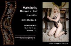 Plakat Sharing mit Christine G 27.4.2013
