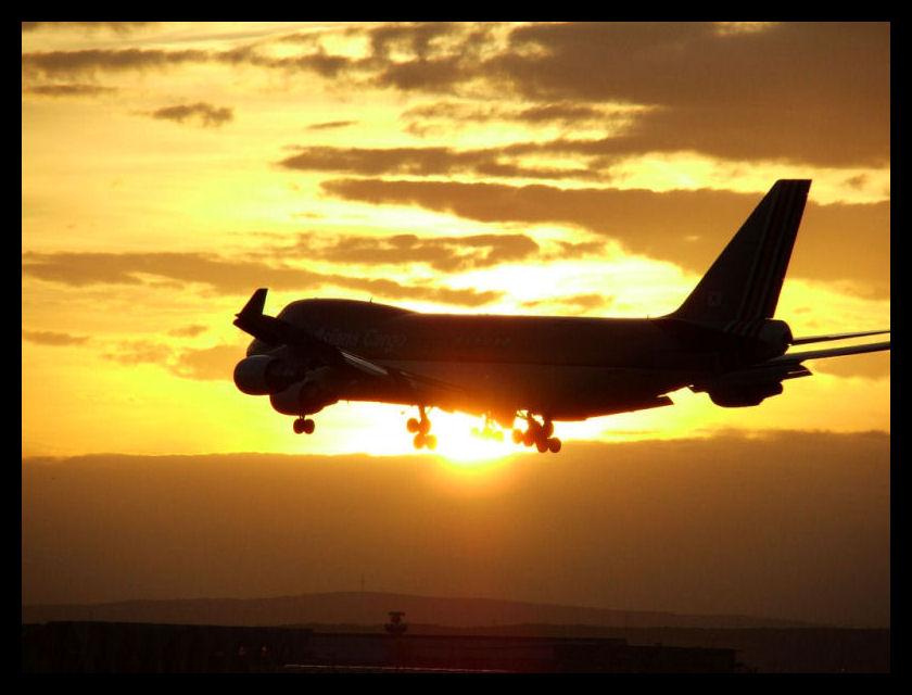 Plane meets Sun