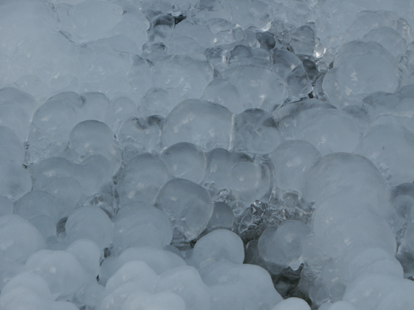 Plastik aus Eis