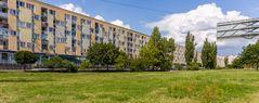 Plattenbau in Warschau
