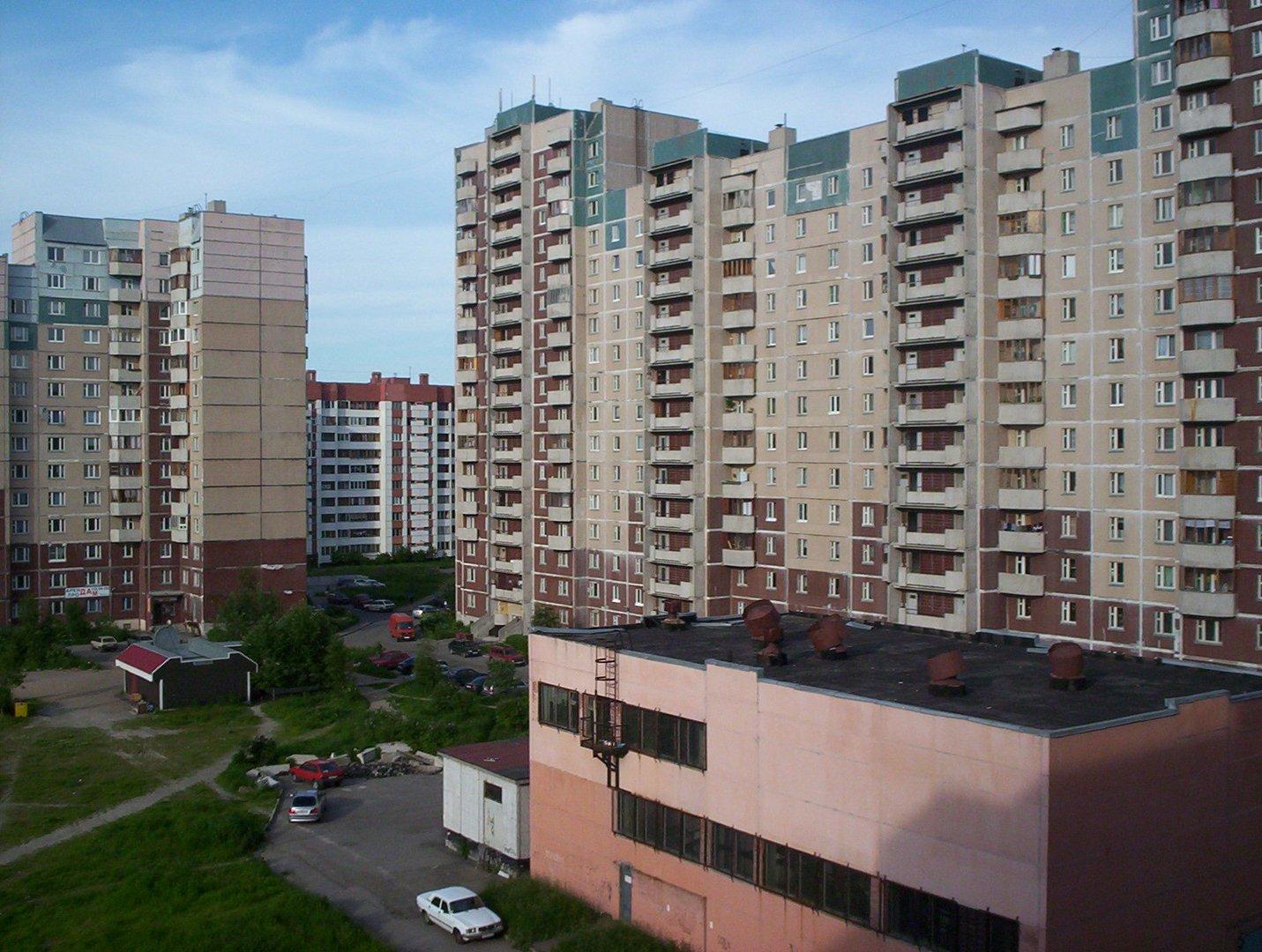Plattenbausiedlung in St.Petersburg