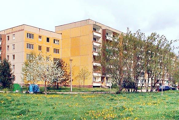 Plattenbauten in Nordhausen Ost 2