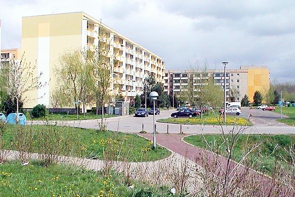 Plattenbauten in Nordhausen Ost