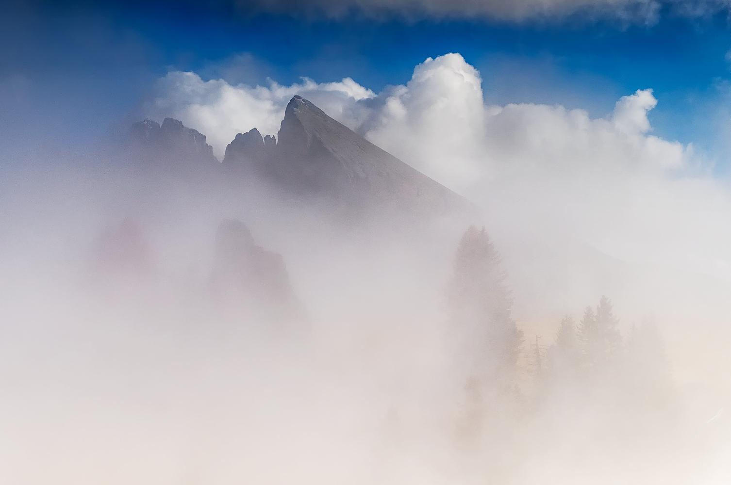 plattkofel im nebel