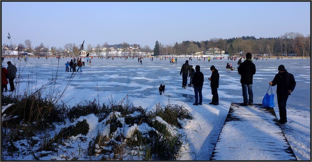 Plausch auf dem Eis