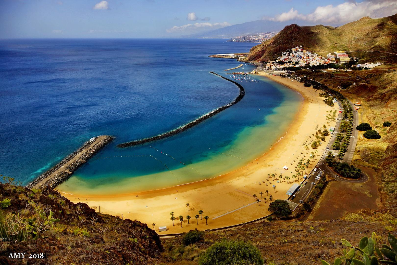 PLAYA DE LAS TERESITAS (TENERIFE / Islas CANARIAS)). Dedicada a ADRIANA PRIETO