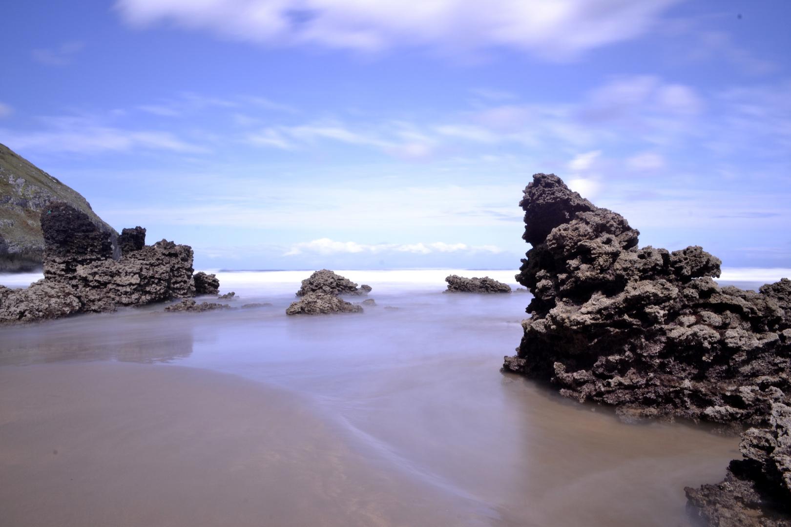 Playa espumosa