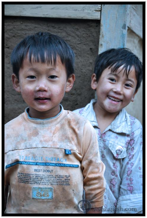 Playful Mongoloid Kids