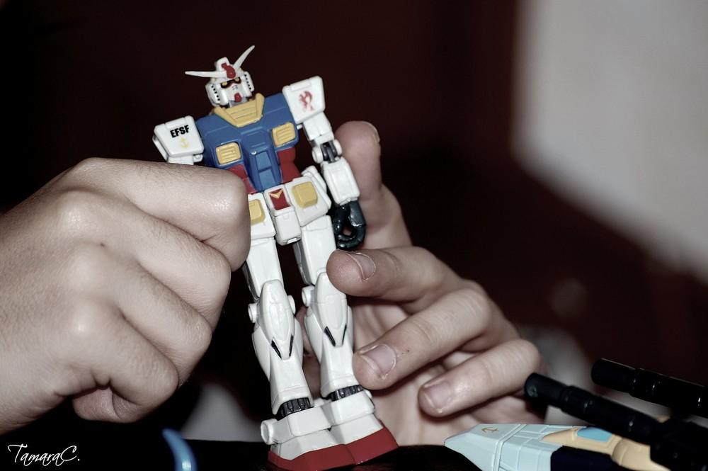 Playing with Gundam