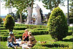 Plaza del Oriente..Bagno solare.