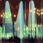 Plaza in green Light